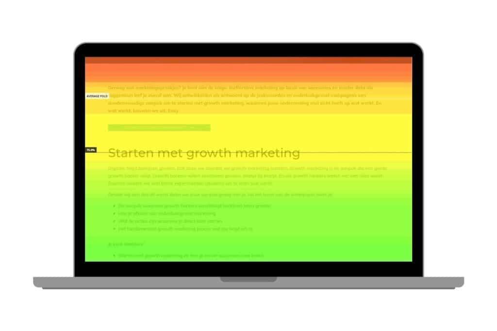 Growth marketing heatmap Digitalic desktop